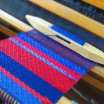 Handweaving - The shoppe sells handwoven scarves, shawls, table runners, and blankets