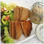Fabulously tasty mackerel pate with a well dressed salad