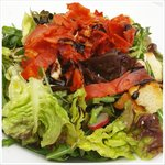 Roast chicken and chorizo salad made for enjoying al fresco on the sun-lit terrace
