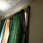 curtains hanging off rail