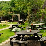 lovely beer garden