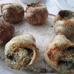 Escargots (caracoles) - two per shell!