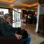 Aly in lobby