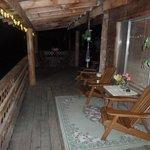 Pretty patio at night!