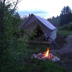 Evening at the glamp