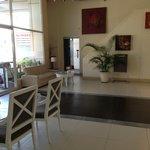 The reception area/lobby