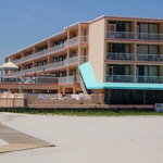 View of motel from the beach