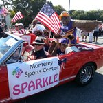 MSC Mascots and Cheerleaders at Monterey 4th of July