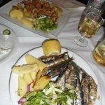 Sardines and squid