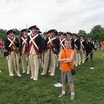 Revolutionary War Troops at Twilight Tattoo