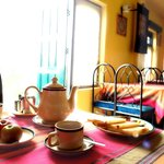 La Bella Nepali Restaurant, Planet Bhaktapur Hotel: Breakfast time