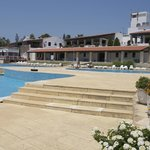 The pools, bars and restaurants at Camping Albufeira