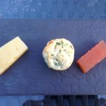 Cheese course with a slight amendment of cheddar cheese