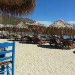 Lovely restaurant on Ornos beach