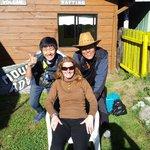 Sandra y turistas amigos