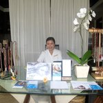 The lovely Balinese receptionist