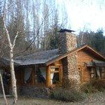 Uma das cabanas