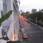 Street from front balcony