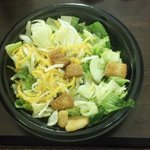 """Extra Cheese Salad"" that I ordered with extra dressing that was not in my bag. POOR POOR Servic"