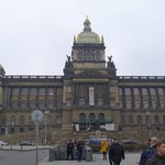 The Czech National Museum behind the St. Wenceslas Monument