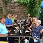 Family Dinner on the patio at Pittsburgh Blue