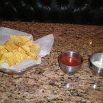 Chips, Salsa, & Tartar Sauce.