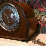 mantel clock and room KEY