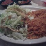 Beef tacos with double rice