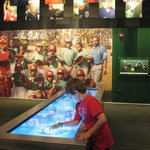Interactive touch screens with quizzes