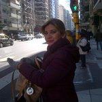 En la parada de Buses frente al hotel