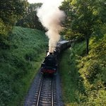 Steam train coming in to beck hole