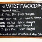 Westwood Menu July 2013