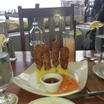 Coconut lobster skewers - Yummy...