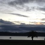 view of lake taupo from my room