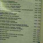 расписание питания и мероприятий
