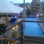View of the pool from roof top sit out