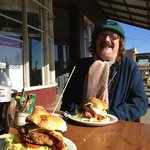 Adrian Kosky, owner of Tasma House and Gardens, Daylesford, enjoying lunch at The Good Food Stor