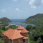 A view from Julietta's over looking Marigot Bay.