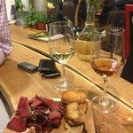 Armenian wine and In Vino's homemade basturma with herbs de provence.