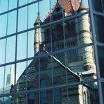 Reflection of Trinity Church in John Hancock Tower  Boston