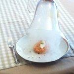 le tartare de saumon fumé sous cloche au bois de hêtre ....un régal