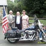 The Bride, Groom & Best Man have found a Harley Davison!!