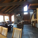 living room of lodge up the hill
