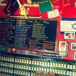 Menu board in The Point Cusco