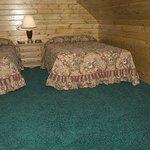 Loft in log cabins