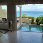 The lower level of our villa