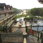 From patio at Devil's Pool Restaurant