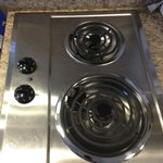 Electric stove is so clean & shiny!