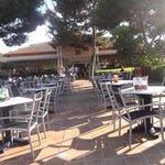 eingang zum Restaurant, Plaza für Abend