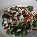 Spinach salad...yes, was in stock!